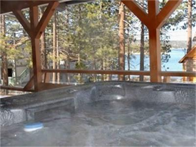 <p>2+1 WINTER special - stay 3 nights and only pay for 2! Exceptional offer for a free night during winter for midweek stays. Valid now for stays Monday thru Thursday nights for all new bookings completed by March 27.</p><p>The perfect Getaway with a great hot tub that is close to skiing, shopping and restaurants! Sleeps up to 8 people </p><p></p><ul><li><strong>Gorgeous Log Cabin with AMAZING Lake Views</strong></li><li><strong>Sunny 3 Bedroom across the street from the Lake!</strong></li><li>Kitchen-Dining-Great Room - all with wonderful views</li><li>Great location - walk to Big Bear Marina, Bowling Barn, Alpine Slide & the Village</li><li><strong>Lake view deck with hot tub</strong> <strong>& GREAT RATES!</strong></li></ul><p>Surrounded by tall pines, this cabin is located across the street from the lake and is centrally located to all that Big Bear Lake has to offer. It is fully furnished with cable TV, DVD player, wireless highspeed internet, dishwasher, gas range stove, microwave, toaster oven, coffee maker, blender, cookware, utensils, & dishes. Perfect for cook-outs and large family dinners! Just off the back of the house is a wonderful sloping yard, perfect for sledding. </p><p>We look forward to seeing you in Big Bear!</p> - 8135