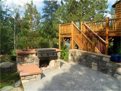 """<p>2 Plus 1 Specials good all thru Spring, Summer AND Fall!! Take advantage of this great value on our Getaway #081 on stays through November 24, 2014! Holidays excluded.</p><p>Cozy Mountain Getaway - 3 Bedroom 2 Bath Mountain Home - sleeps up to 10</p><p></p><ul type=""""disc""""><li class=""""MsoNormal""""><span style=""""font-size: 9pt; font-family: Arial, sans-serif;"""">Perfect Mountain Getaway in the trees!!<o:p></o:p></span></li><li class=""""MsoNormal""""><span style=""""font-size: 9pt; font-family: Arial, sans-serif;"""">Incredible mountain getaway - fabulous views - sleeps up to 10!<o:p></o:p></span></li><li class=""""MsoNormal""""><span style=""""font-size: 9pt; font-family: Arial, sans-serif;"""">3 bedrooms - includes upstairs private sleeping loft and 2 downstairs bedrooms<o:p></o:p></span></li><li class=""""MsoNormal""""><span style=""""font-size: 9pt; font-family: Arial, sans-serif;"""">PLUS spectacular spa room with fireplace and TV!!<o:p></o:p></span></li><li class=""""MsoNormal""""><span style=""""font-size: 9pt; font-family: Arial, sans-serif;"""">Mountain Style with wood throughout gives you a true lodge feeling<o:p></o:p></span></li><li class=""""MsoNormal""""><span style=""""font-size: 9pt; font-family: Arial, sans-serif;"""">Large living room perfect for couples or family get-togethers<o:p></o:p></span></li><li class=""""MsoNormal""""><span style=""""font-size: 9pt; font-family: Arial, sans-serif;"""">Fabulous wrap around deck with panoramic views<o:p></o:p></span></li><li class=""""MsoNormal""""><span style=""""font-size: 9pt; font-family: Arial, sans-serif;"""">Soaring wood ceilings - skylights - beautiful rock fireplaces<o:p></o:p></span></li><li class=""""MsoNormal""""><span style=""""font-size: 9pt; font-family: Arial, sans-serif;"""">Surrounded by treesin a peaceful neighborhood<o:p></o:p></span></li><li class=""""MsoNormal""""><span style=""""font-size: 9pt; font-family: Arial, sans-serif;"""">Outdoor patio with BBQ just off spa room - perfect for entertaining!<o:p></o:p></span></li><li class=""""MsoNormal""""><span style=""""font-size: 9pt; font-family: Arial, sans-se"""