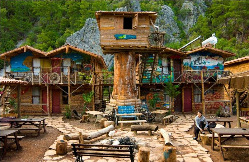 Glamping In Turkey Tree Houses In Olympos With Walking