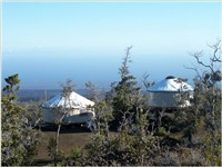 Yurts by the ocean