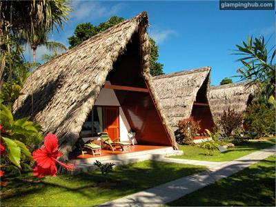 Cabins in La Digue