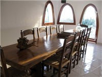 Indoor Dining Table seats 10