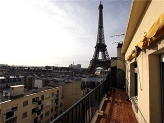 View of Eiffel Tower from Terrace