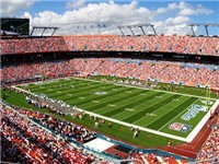 Sun life Stadium during a Dolphins Game
