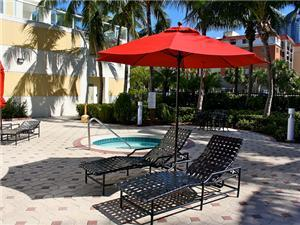 Comfortable Lounge Chairs and Umbrellas