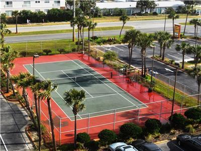 Enjoy a good game of tennis on lighted courts!