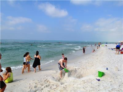 Enjoy building sand castles or take a stroll