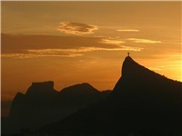 Cristo Redentor Sunset