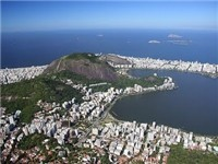 Corcovado Hill's top view