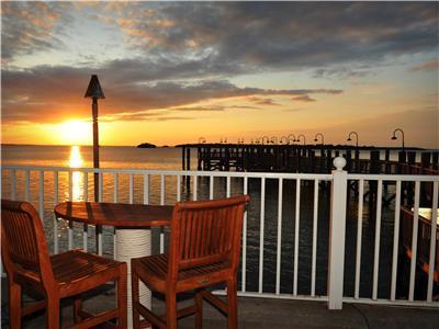 Sunset over Resort bar