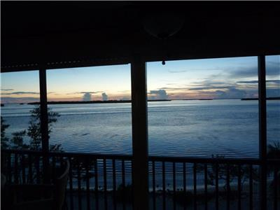 Lanai view at Sunset