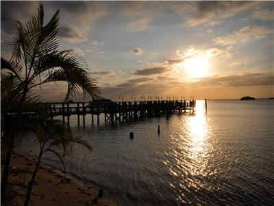 Resort Fishing Pier at Sunset