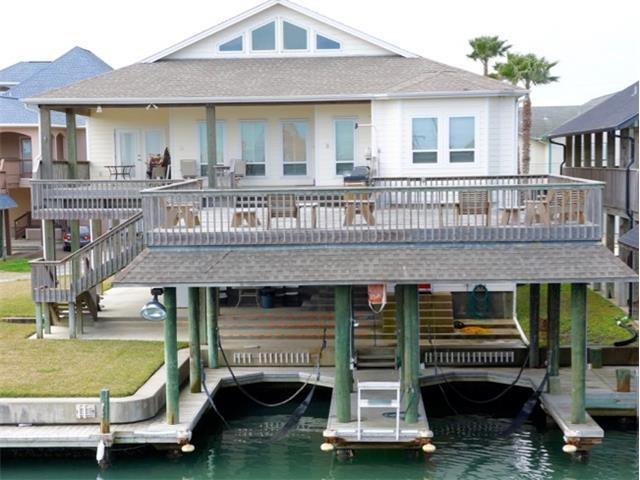 Water side View of House and Deck and Boat Sling
