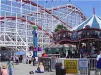 Belmont Park's Giant Dipper Roller Coaster