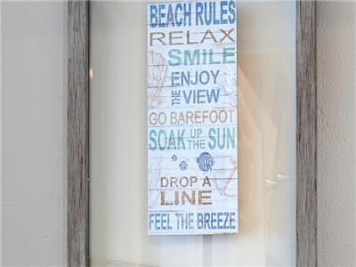 Beach rules...smile!