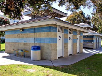 Convenient well kept public restrooms at the par