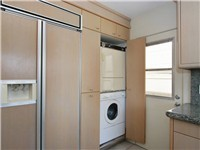 Built-in washer/dryer and refrigerator