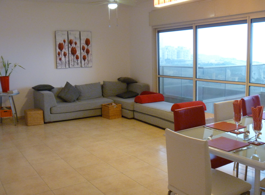 Royal Residence - 3 Bedroom Apart. with Pool in South Beach Netanya  - PK02KP
