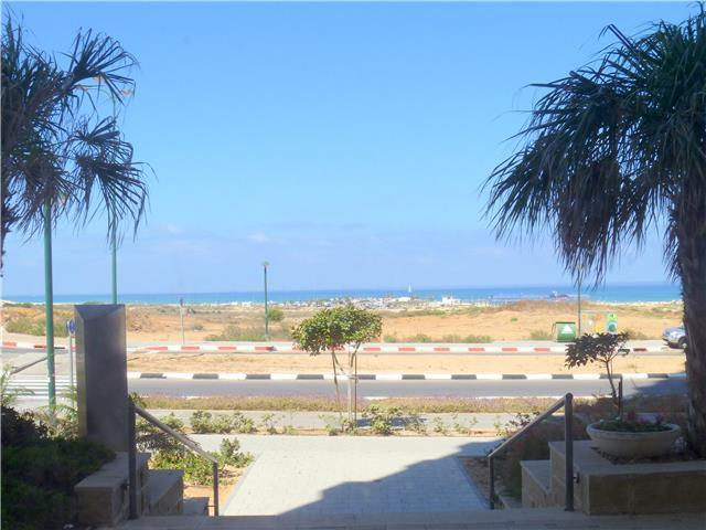 View to the sea from the entrance to the building