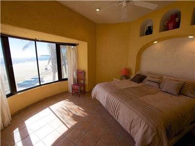 The third bedroom is upstairs and has ocean view