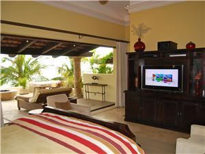 The master suite with satellite television
