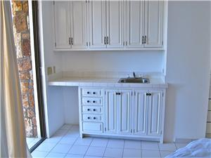 Sink area in a guest room