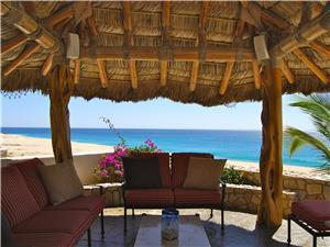 Beachfront palapa for relaxing the day away...