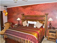 Master Bedroom has a king bed and private bathroom