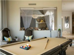 Play pool in the game room