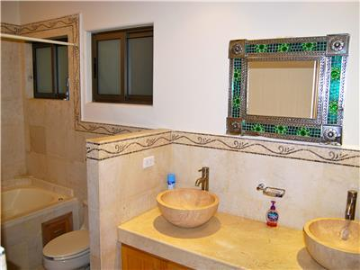 Bathroom with a double vanity