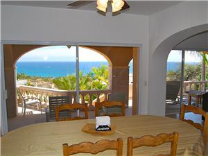 Ocean view from the dining table