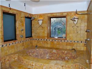 The second casita has a bath and dual shower heads