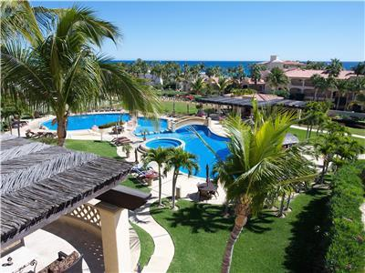 Views of the pool and the Sea of Cortez