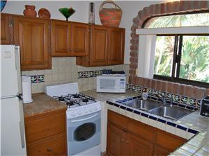 The studio has a fully equipped kitchen