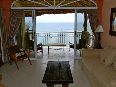 The front television room has an ocean view