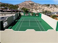 Las Olas rooftop tennis court