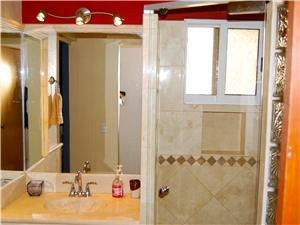 Master bathroom has been completely remodeled