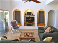 Living Room with satellite flat screen television