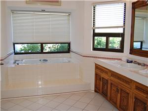 Guest bathroom with bathtub