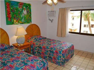 Guest bedroom has 2 twin size beds