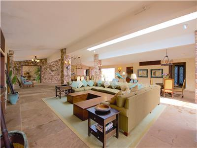 Huge living room and dining room