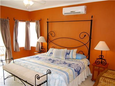 The master bedroom has an ocean view