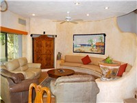 Nicely furnished Living Room with satellite TV