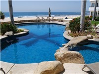 Beach front Jacuzzi and pool
