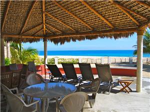 Beach side palapa for entertaining