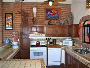 The second level fully equipped kitchen