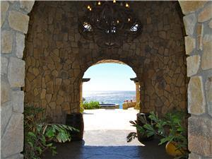 Welcome to Castillo Escondido.  Entry arch
