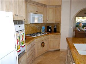 Kitchen is spacious