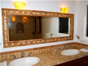 Private bathroom with custome tile work