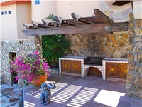 Pool side BBQ station